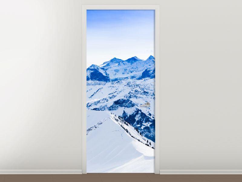 Türtapete Die Schweizer Alpen