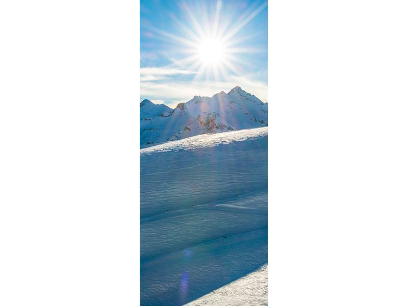Türtapete Ein Wintermärchen in den Bergen