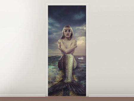 Türtapete Gestrandete Meerjungfrau