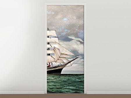 Türtapete Segelschiff