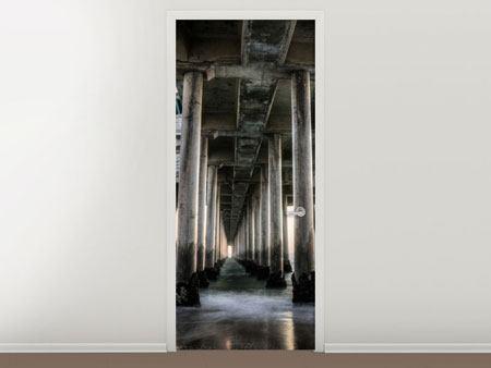 Türtapete Brückenpfeiler