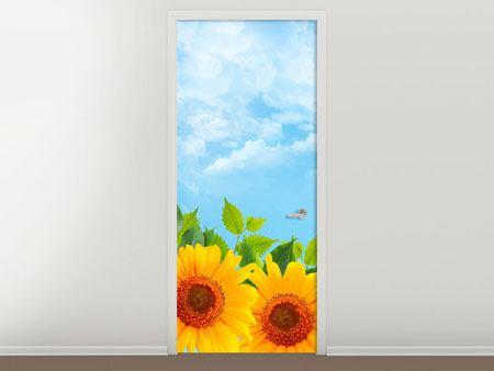 Türtapete Sonnen Flower Power