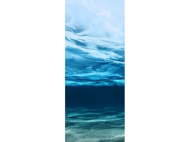 Türtapete Lichtspiegelungen unter Wasser