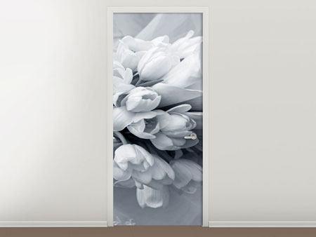 Türtapete Romantisches Tulpenbukett