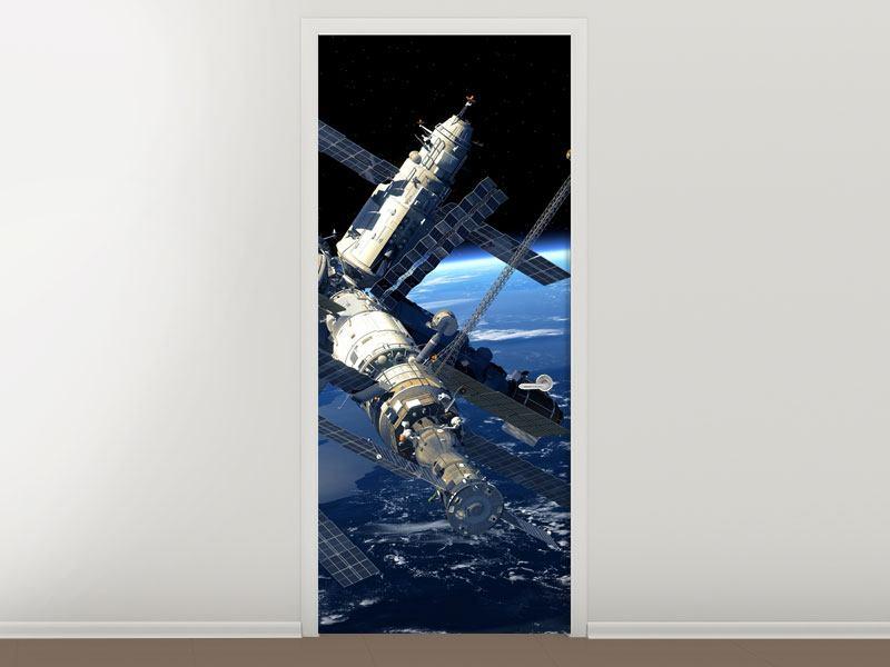Türtapete Raumstation