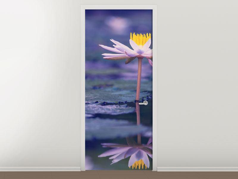 Türtapete Lotus Duo im Sonnenaufgang