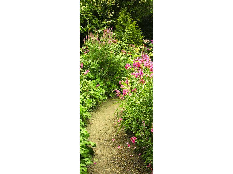 Türtapete Gartenweg