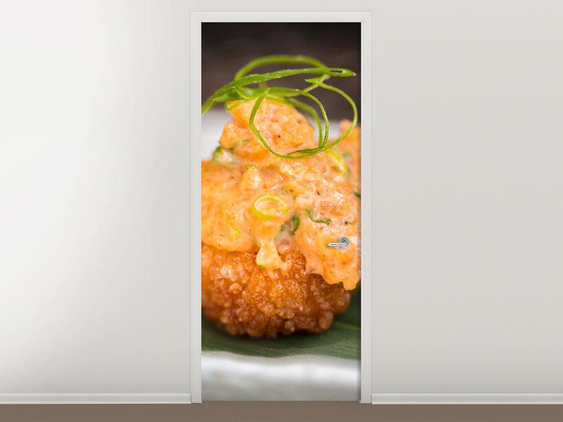 Türtapete Asiatische Küche