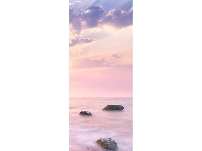 Türtapete Sonnenaufgang am Meer