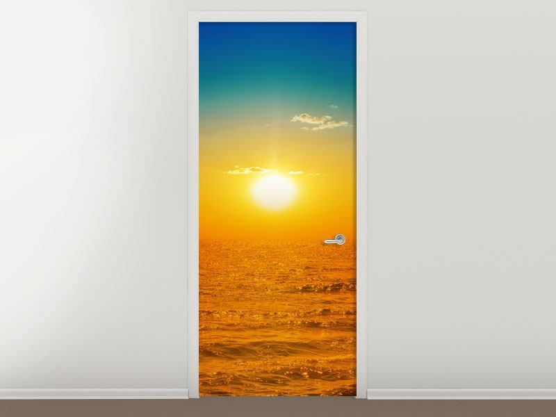 Türtapete Das Meer im Sonnenuntergang