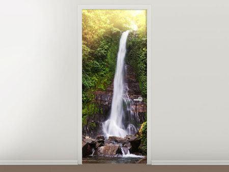 Türtapete Wasserfall Bali