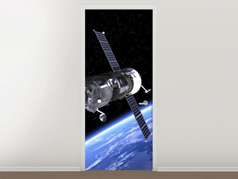 Türtapete Flug im Weltall