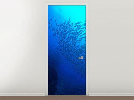 Türtapete Fischwelt