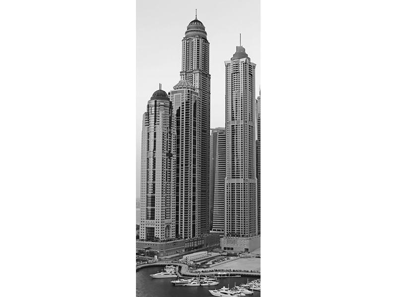 Türtapete Majestätische Wolkenkratzer in Dubai