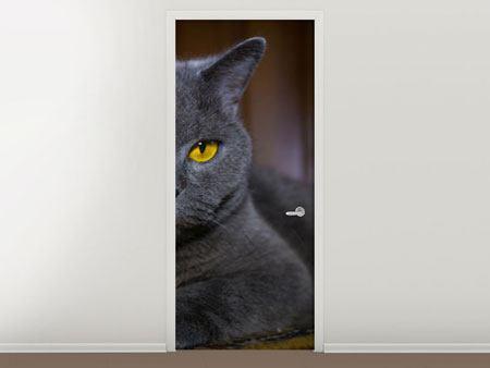 Türtapete Katzengöttin