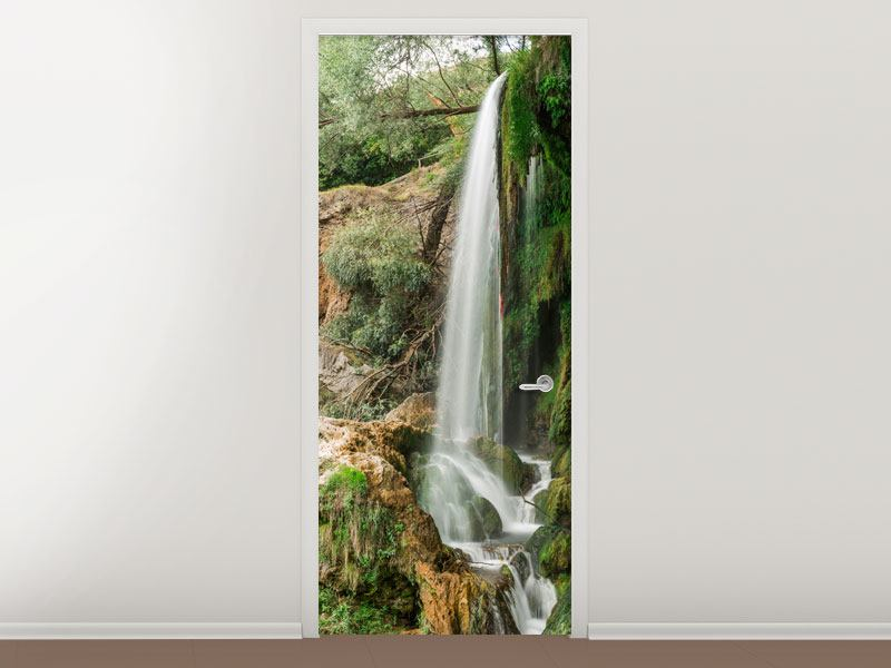 Türtapete Klarer Wasserfall