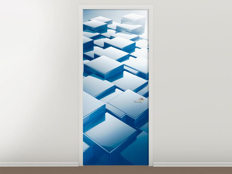 Türtapete 3D-Cubes