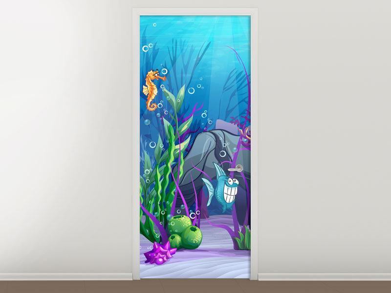 Türtapete Unterwasserschatzsuche