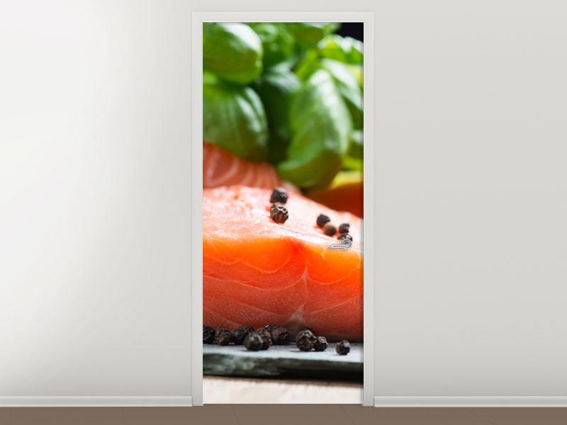 Türtapete Frischer Fisch