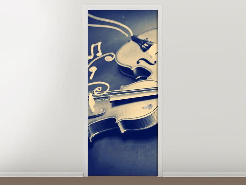 Türtapete Geigen