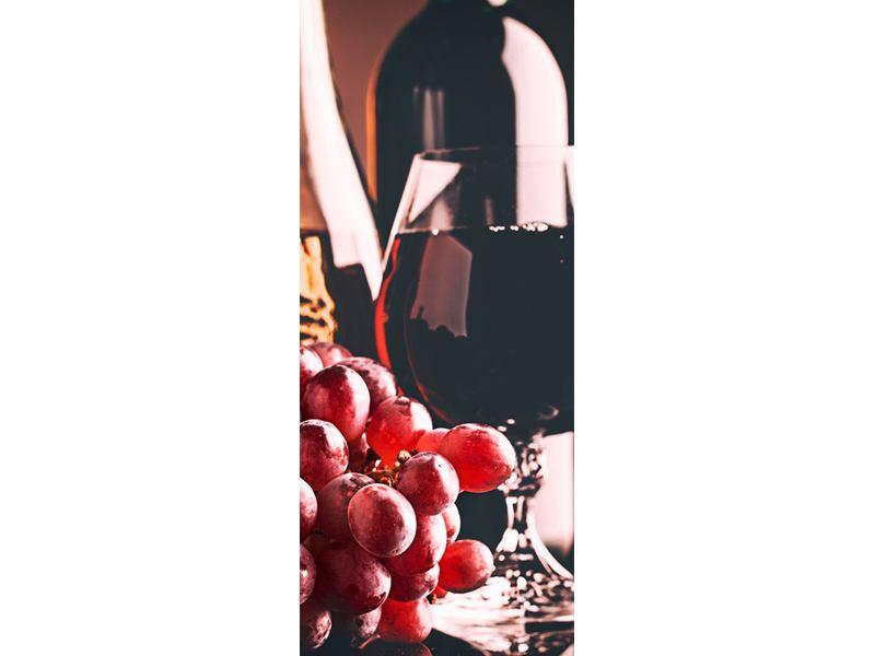 Türtapete Rotwein
