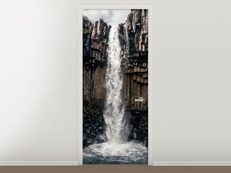 Türtapete Wasserfall Island