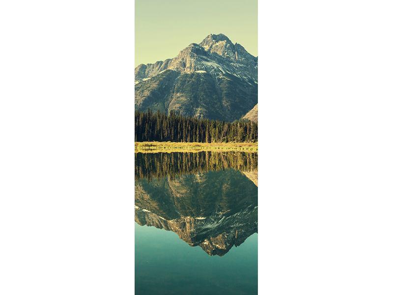 Türtapete Der Bergsee