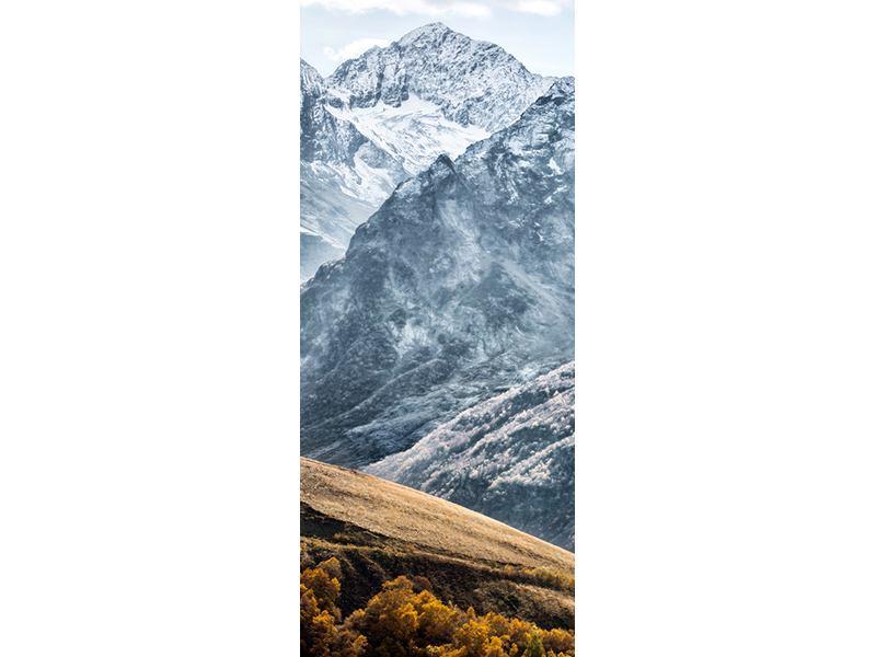 Türtapete Gigantische Berggipfel