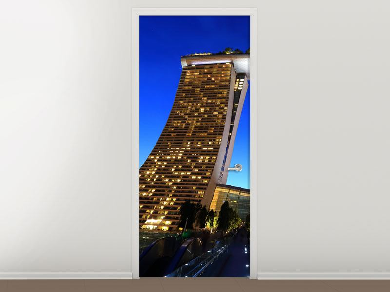 Türtapete Wolkenkratzer Singapur