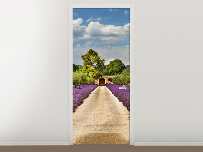 Türtapete Lavendel-Garten