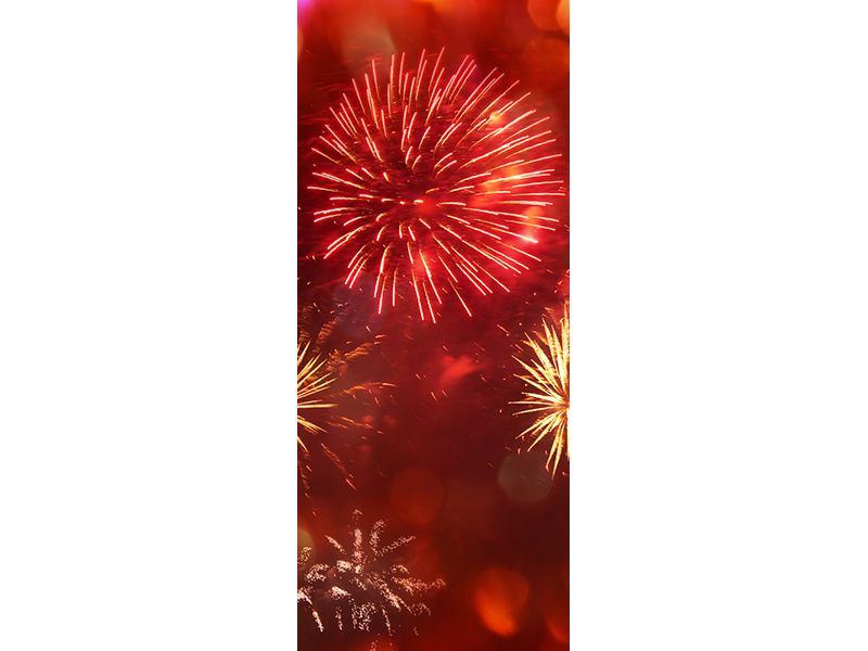 Türtapete Buntes Feuerwerk