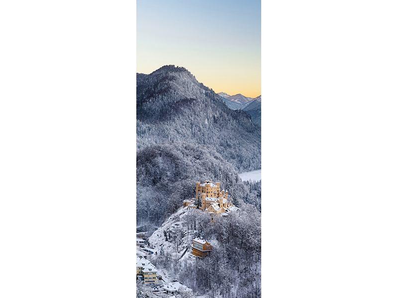 Türtapete Schloss Neuschwanstein im Ammergebierge