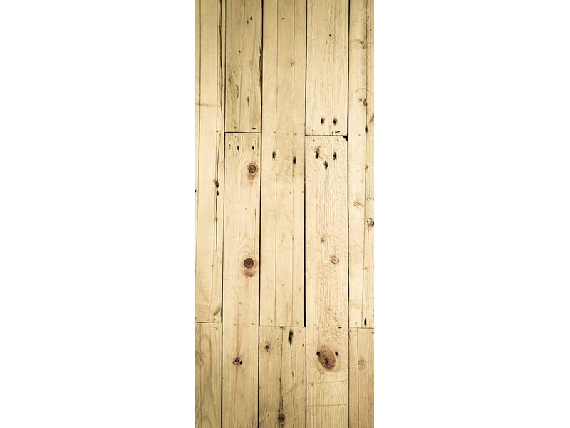 Türtapete Holzpaneelen
