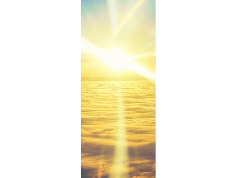 Türtapete Sonnenuntergang über den Wolken
