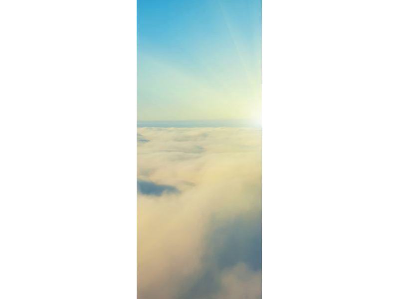 Türtapete Dämmerung über den Wolken