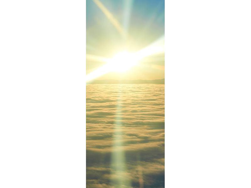 Türtapete Sonnenaufgang über den Wolken
