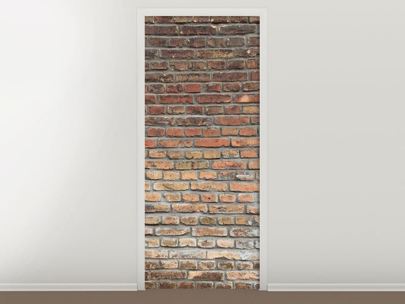 Türtapete Ziegelmauer