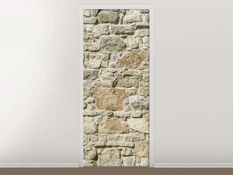 Türtapete Naturmauer