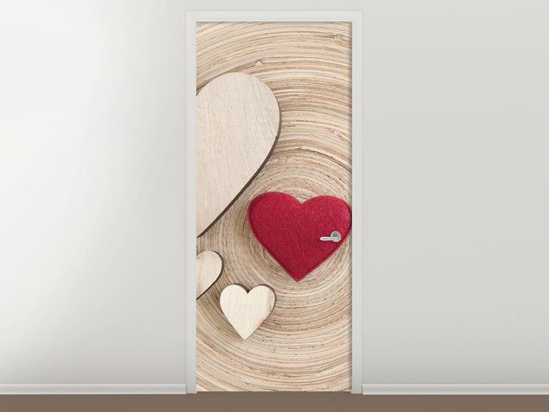 Türtapete Herzen