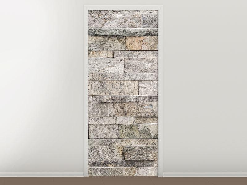 Türtapete Elegante Steinmauer