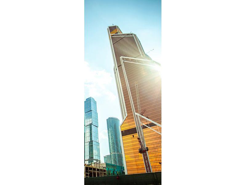 Türtapete Wolkenkratzer Moskau