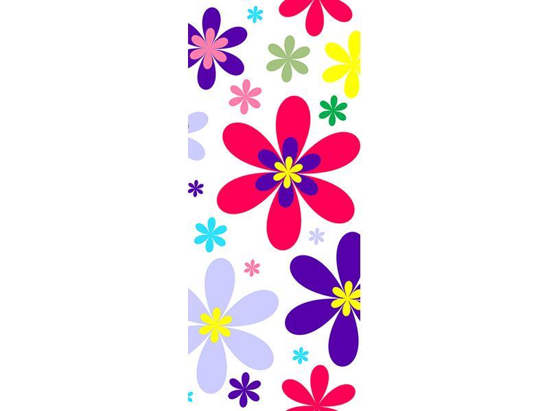 Türtapete Retromode Blumen