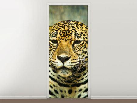 Türtapete Pantherportrait