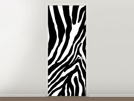 Türtapete Zebramuster