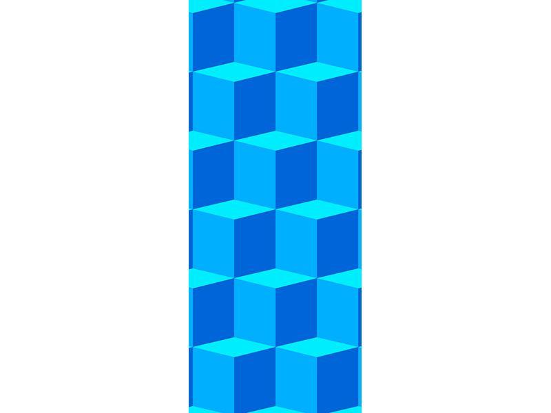 Türtapete 3D-Würfel Türkis