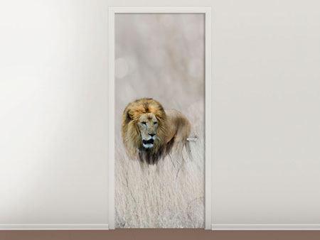 Türtapete Der Löwe