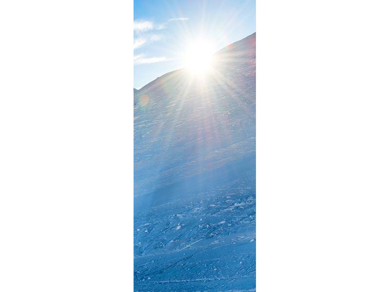 Türtapete Sonnenaufgang in den Bergen