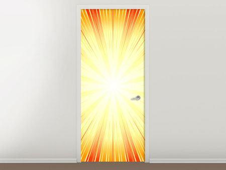 Türtapete Abstrakte Retro Sonne