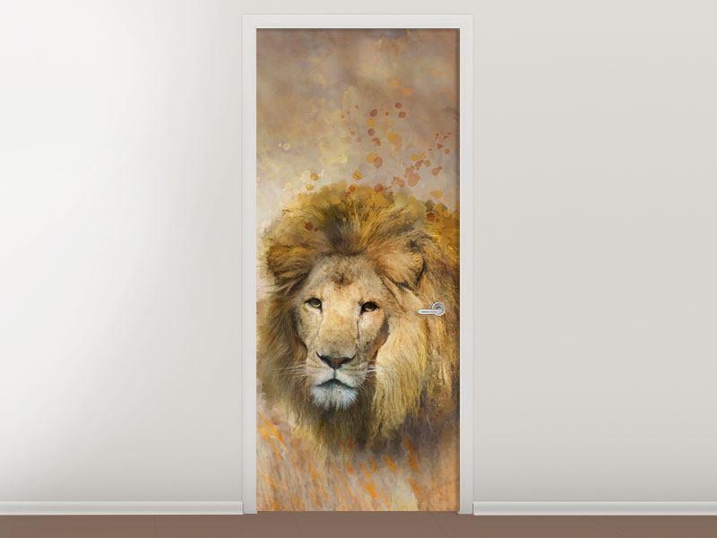 Türtapete König der Löwen