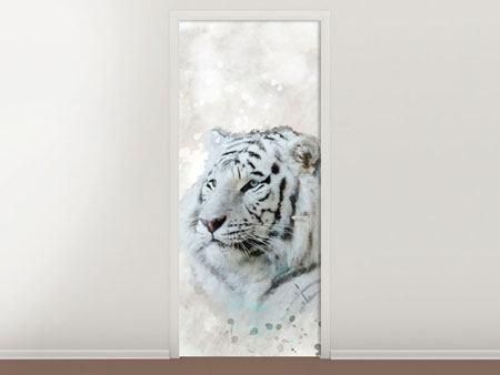 Türtapete Tiger-Gemälde